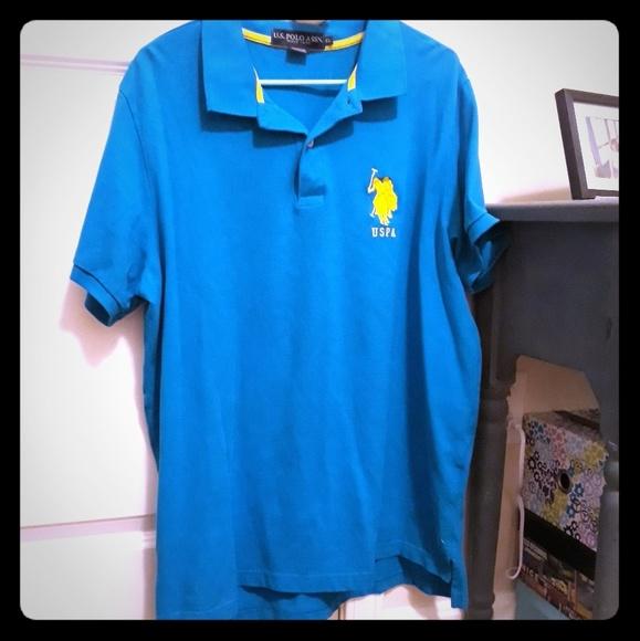 a266ffee7 U.S. Polo Assn. Shirts | Us Polo Assn Blue Mens Xl Polo Shirt | Poshmark